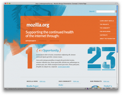 Mozilla redizajn koncept 2