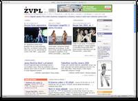 ŽVPL-ov HTML izpis vstopne strani