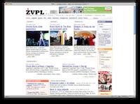 ŽVPL-ov XHTML izpis vstopne strani