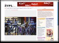 ŽVPL-ov izpis vstopne strani na 960px