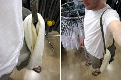 Z brisačo v trgovini
